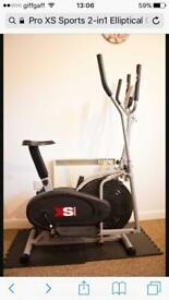 XS Sports 2-in- 1 Elliptical Cross Trainer/Exercise Bike
