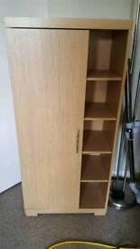 Oak veneer dvd/cd storage unit