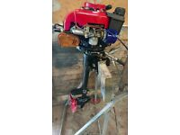 2hp Anconi 4 stroke air cooled outboard motor