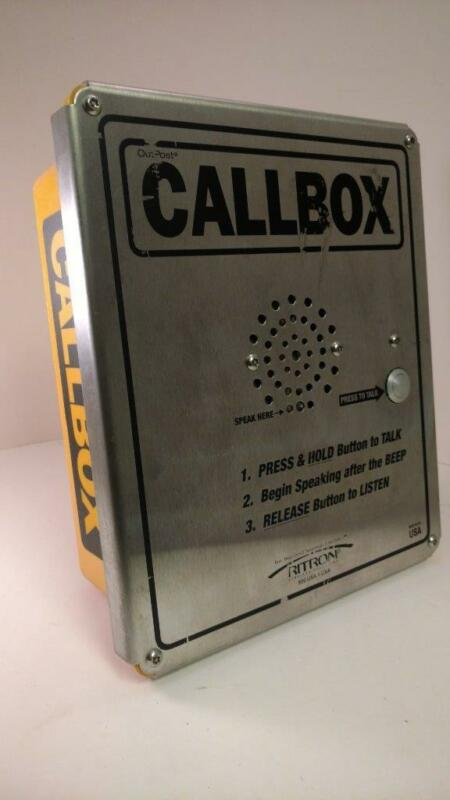 Ritron RQX-151-XT VHF Wireless Callbox Outdoor Enclosure 1 Channel 1W yellow box
