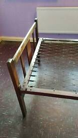 Metal frame 3/4 bed