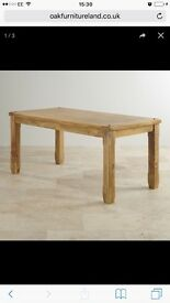 MUST GO!! Solid Mango wood dining table plus 4 chairs New Low Price