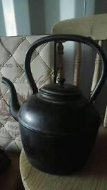 Antique kettle huge