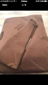 Brand-new Beautiful pair of curtains 90 x 90 and brown colour