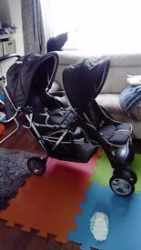 Double buggy/pram for sale