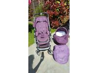 ICANDY CHERRY PUSHCHAIR IN A MULBERRY COLOUR