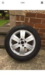 Toyota tyre and alloy wheel, can be viewed any time, size is 195/60, size 15 ''