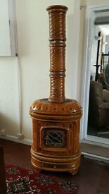 French Ceramic Wood Stove by Sergio Leasy
