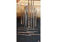Selection of SDS drill bits and chisels