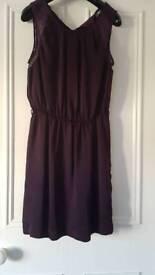 Purple silk and lace dress