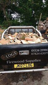 Firewood, Dry Seasoned Hardwood Logs FOR SALE.