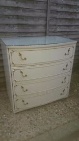 2 Cream Chest of Drawers
