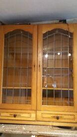 FREE kitchen wall unit, lights, glass shelves