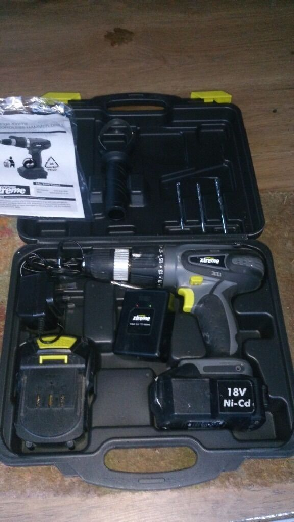 Challenge Xtreme 18v Cordless Hammer Drill Case Charger