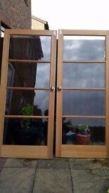 """2 besboke internal doors. Beech. 33"""" x 77"""" each door"""