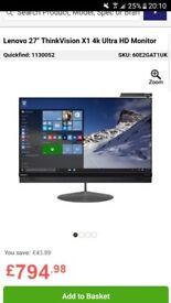 Lenovo thinkvision x1 4k monitor