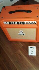 th30 orange amp valve with foot pedal