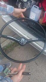 1973 original beetle sreering wheel
