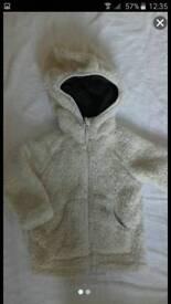Age 1-2 cream fluffy jacket coat by MOUNTAIN WAREHOUSE