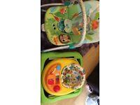 Baby walker,bouncy chair, feeding chair, play mat, activity mat
