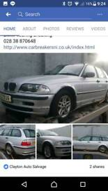 Bmw e61 touring silver breaking engine gearbox bumper etc