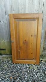 Antique pine wooden doors