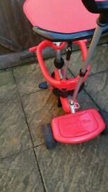 SmarTrike 3 in 1 -Red -Push Handle