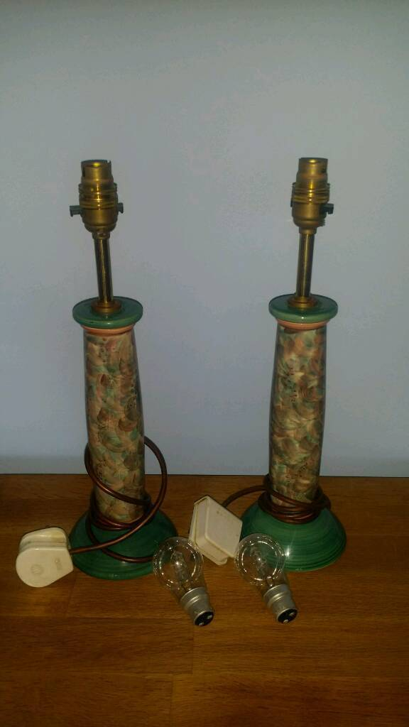 Jersey Pottery -a pair of table lamps