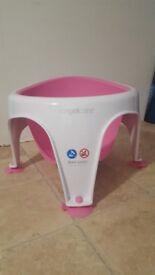 Baby Angelcare pink bath seat super soft