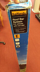 Roof Bars for cars with rails 120cm adjustable 75kg load