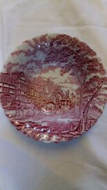 Staffordshire Myott Royal Mail Red Bowl