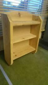 pine wall shelf unit