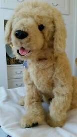 """GORGEOUS 'FUR REAL' MY LOVING PUP """"BISCUIT"""" LIFESIZE INTERACTIVE TOY DOG"""