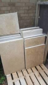 Polished sandstone slabs