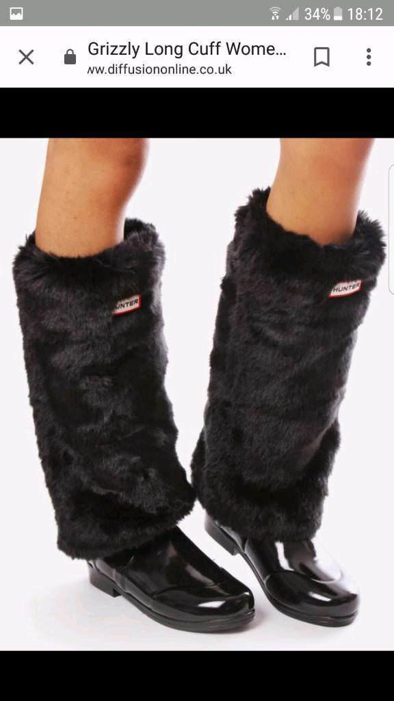 on wholesale picked up cheap price HUNTER LONG GRIZZLY CUFF WELLIE SOCKS BLACK | in East London, London |  Gumtree
