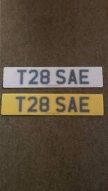 Private Plate ** T28SAE ** All Fee's Paid