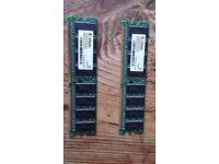 DDR Ram 512MB(256MB x 2)