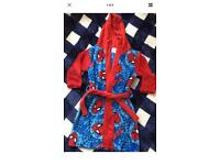 New boys Spider-Man dressing gown robe