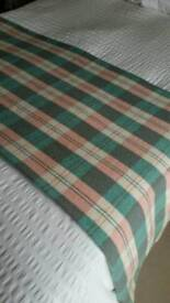 Welsh Wool Check Blanket Throw