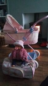 Baby Born doll, pram and clothes