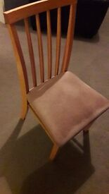 2 x wooden dining chairs for sale