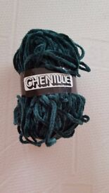 New green acrylic yarn