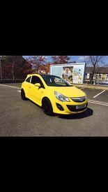 2015 Vauxhall corsa 1.2 ltd edition yellow full test fvsh 28k 12 months breakdown warranty cover px