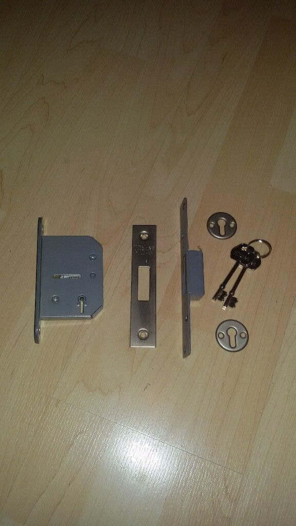 door lock 5 lever new lock will fit inside of a security gate or ...