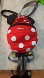 Minnie mouse backpack and rains