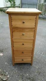 Solid oak tallboy drawers