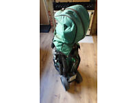 Golf clubs with bag, trolly and accessories