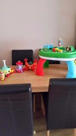 In the night garden table and ninky nonk