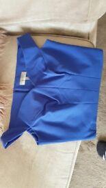 Size 10 Coast Blue Halter Off the Shoulder Top.