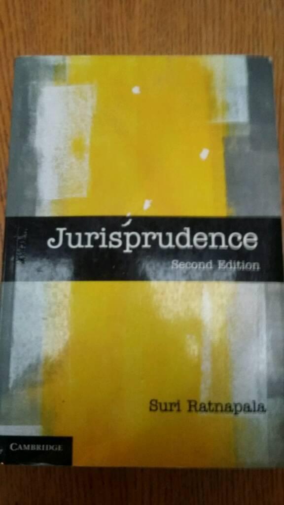 Jurisprudence Suri Ratnapala 2nd edition